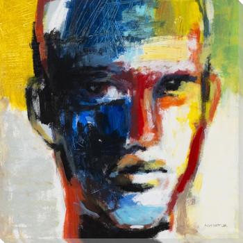 Modern Man II Portrait Wrapped Canvas Giclee Print Wall Art