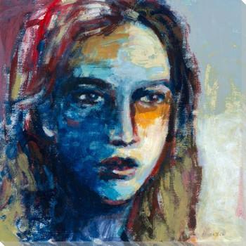 Modern Woman I Portrait Wrapped Canvas Giclee Print Wall Art