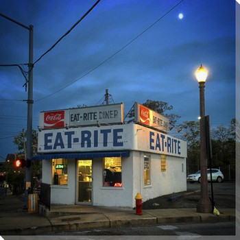Eat-Rite Diner Wrapped Canvas Giclee Print Wall Art