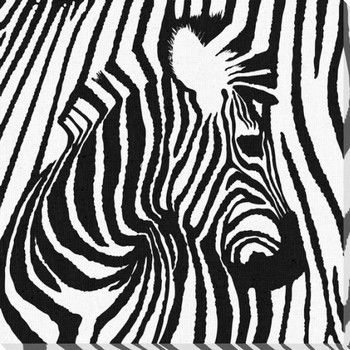 Zebra 1 Wrapped Canvas Giclee Print Wall Art