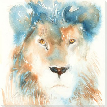Lion Wrapped Canvas Giclee Art Print Wall Art