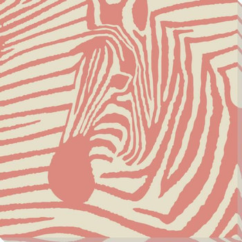 Pink Pop Zebra Wrapped Canvas Giclee Print Wall Art