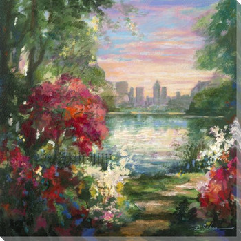 City Park 1 Wrapped Canvas Giclee Print Wall Art