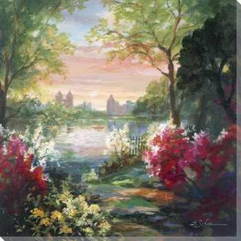 City Park 2 Wrapped Canvas Giclee Print Wall Art