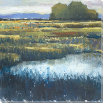Indigo Marsh I Wrapped Canvas Giclee Print Wall Art