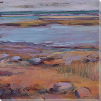 Companion Rocky Shore Diptych I Wrapped Canvas Giclee Print