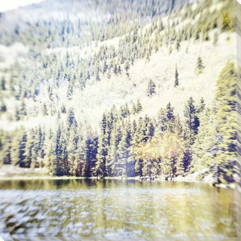 Hidden Dock Lake Scene Wrapped Canvas Giclee Print Wall Art