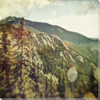 Looking Back To Mt Chief Wrapped Canvas Giclee Print Wall Art