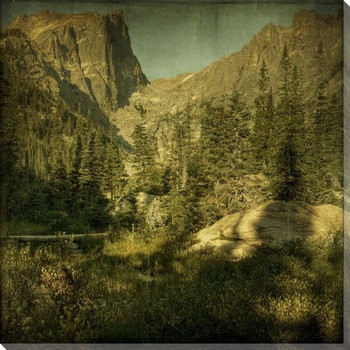 Classic Dream Lake Cliffs Wrapped Canvas Giclee Print Wall Art