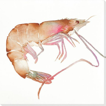 Bubbs Crayfish Wrapped Canvas Giclee Print Wall Art