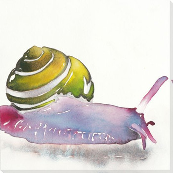 Slow Art Snail Wrapped Canvas Giclee Print Wall Art