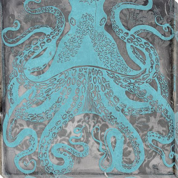 Dreaming in Blue Octopus Wrapped Canvas Giclee Print Wall Art