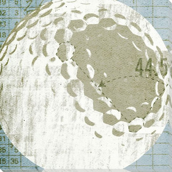 Golf Ball Specs Wrapped Canvas Giclee Print Wall Art