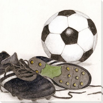 Soccer Equipment Wrapped Canvas Giclee Print Wall Art