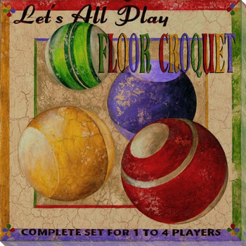 Lets All Play Floor Croquet Wrapped Canvas Giclee Print Wall Art
