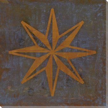 Qwerties 8 Point Star Wrapped Canvas Giclee Print Wall Art