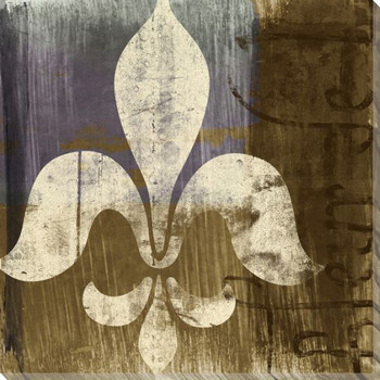 Fleur de Lis IV Symbol Wrapped Canvas Giclee Print Wall Art