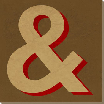 QWERTY Ampersand Symbol Wrapped Canvas Giclee Print Wall Art