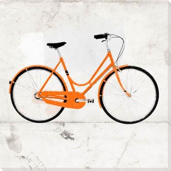 Gold Beach Bike Wrapped Canvas Giclee Print Wall Art