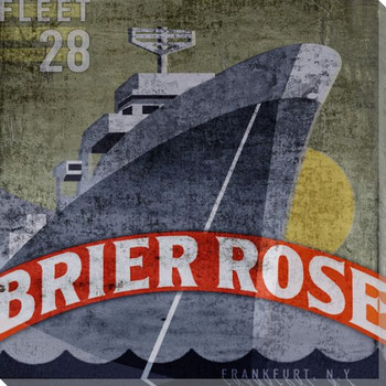 Brier Rose Ship Wrapped Canvas Giclee Print Wall Art
