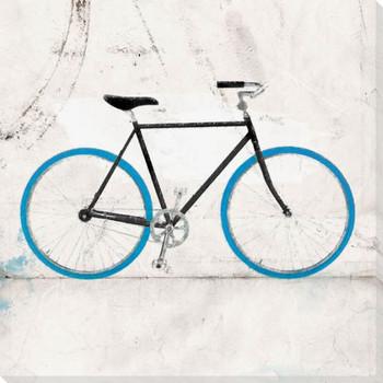 Blue Mountain Bike Wrapped Canvas Giclee Print Wall Art