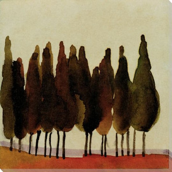Cyprus Tree 4 Wrapped Canvas Giclee Print Wall Art