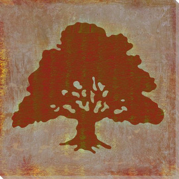 Qwerties Tree Wrapped Canvas Giclee Print Wall Art