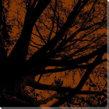 Twilight Trees Rust Right Wrapped Canvas Giclee Print Wall Art