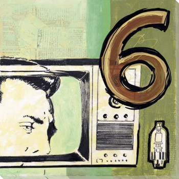 Television Wrapped Canvas Giclee Print Wall Art