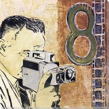 Movie Camera Wrapped Canvas Giclee Print Wall Art