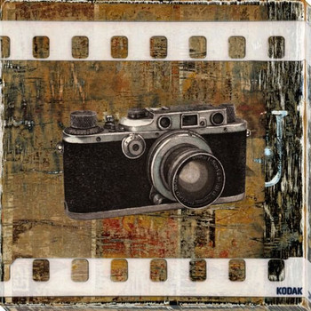 Analog Camera Wrapped Canvas Giclee Print Wall Art