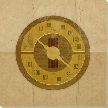 Retro Radio Dial Wrapped Canvas Giclee Print Wall Art