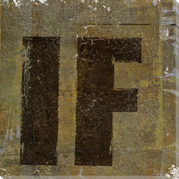 """""""IF"""" Wrapped Canvas Giclee Print Wall Art"""