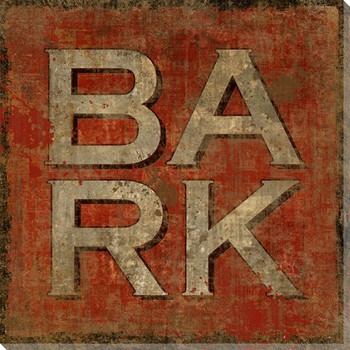 """Bark"" Wrapped Canvas Giclee Print Wall Art"