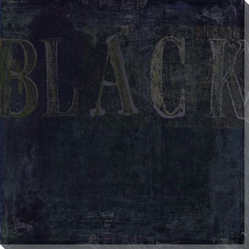 """""""Black"""" Block Wrapped Canvas Giclee Print Wall Art"""
