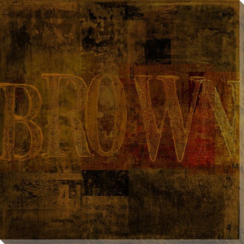"""""""Brown"""" Block Wrapped Canvas Giclee Print Wall Art"""