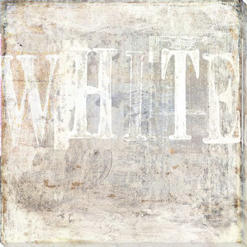 """White"" Block Wrapped Canvas Giclee Print Wall Art"