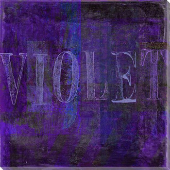 """""""Violet"""" Block Wrapped Canvas Giclee Print Wall Art"""