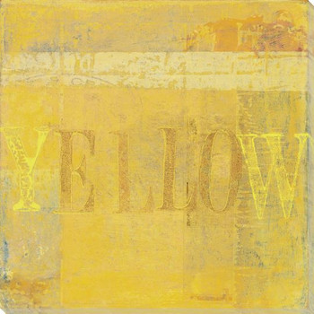 """""""Yellow"""" Block Wrapped Canvas Giclee Print Wall Art"""