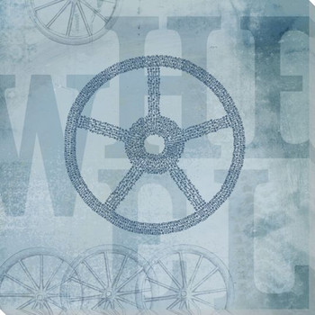 """Word Play """"Wheel"""" Wrapped Canvas Giclee Print Wall Art"""