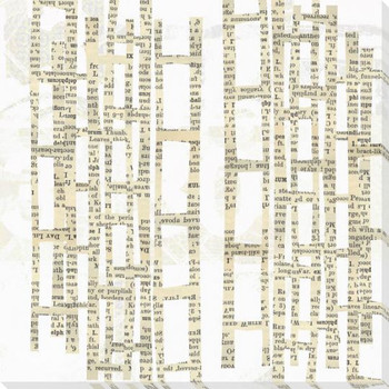 Encrypted Text One Wrapped Canvas Giclee Print Wall Art