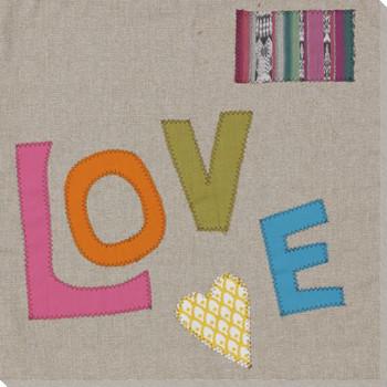 """Love"" Farmhouse 7 Wrapped Canvas Giclee Print Wall Art"