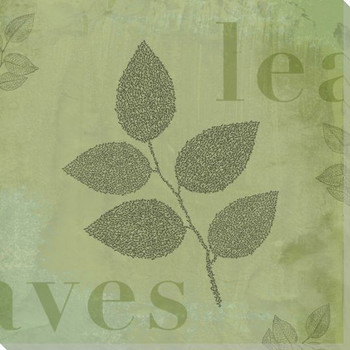 """Word Play """"Leaves"""" Wrapped Canvas Giclee Print Wall Art"""