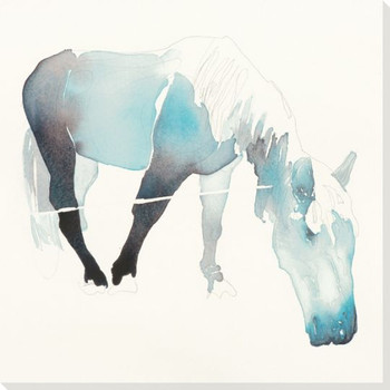 Gray Mare Horse Wrapped Canvas Giclee Print Wall Art