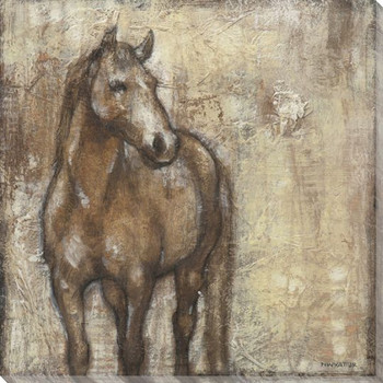 Noble Steed Horse II Wrapped Canvas Giclee Print Wall Art
