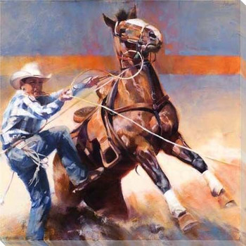 Got 'em Cowboy Roping Wrapped Canvas Giclee Print Wall Art