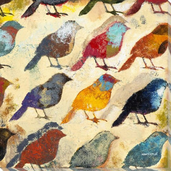 Bird Day I Wrapped Canvas Giclee Print Wall Art