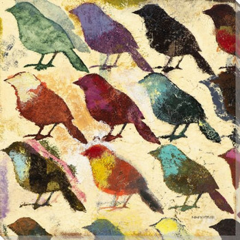 Bird Day II Wrapped Canvas Giclee Print Wall Art
