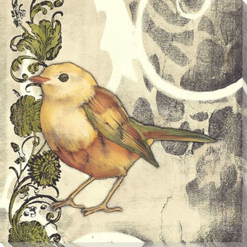 Bird Song II Wrapped Canvas Giclee Print Wall Art