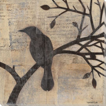 Evening Watch Bird I Wrapped Canvas Giclee Print Wall Art